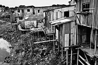 A poor shanty town of Manaus, Brazil  The living standards in the poor neighborhoods of Manaus are similar to those in the other South American mega-c...