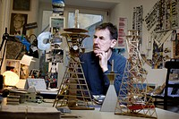 Czech architect of Croatian origin Vlado Milunic poses with architectural models in his Studio VM in Prague, Czech Republic Milunic, who designed The ...