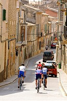 Cyclists, Sencelles, Mallorca, Spain Balearic Islands