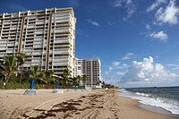 apartments hotels and beachfront developments fort lauderdale beach florida usa