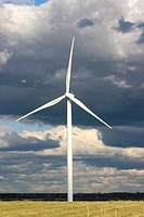 Wind farm, Nova Scotia, Canada, Amherst, Canadian Maritimes, wind turbine, green energy, electric power, windmills, blades, generating, clouds, sky