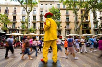 Ramblas of Barcelona Spain  Mimes  Pantomime