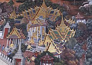 Ramanaya frescoes Wat Phra Kaew temple in the Grand Palace For just about 150 years, Bangkok´s Grand Palace was not only the home of the king and his ...