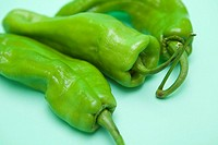 italian green peppers with green background  Valencia  Spain