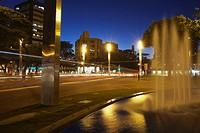 Praça da Savassi Savassi Square at dusk, Belo Horizonte, Minas Gerais, Brazil