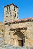 San Pedro collegiate, in Cervatos village, Campoo de Enmedio, considered as one of the most important romanesque churches of Cantabria and specially k...