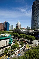 Orchard Road, the luxury shopping district of Singapore City.