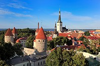 View of old city from Toompea, Tallinn, Estonia