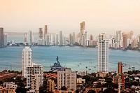 Panoramic of The Laguito, Cartagena, Bolivar, Colombia