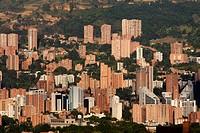 Panoramic of Poblado, Medellin, Antioquia, Colombia