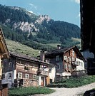 Typical houses in the Alps