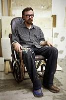 Man in rocking chair