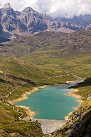 Escarra Reservoir from Pacino Peak - Valle de Tena - Pyrenees - Huesca province - Aragon - Spain - Europe
