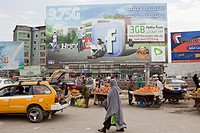 Billboard from Etisalat for 3G in Kabul