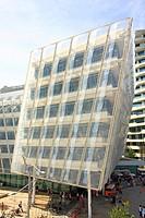 Headquarters of Unilever on Strandkai in HafenCity in the Hanseatic City of Hamburg, Germany, Europe