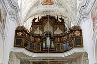 Organ, collegiate church Baumgartenberg Mariae Himmelfahrt, Muehlviertel region, Upper Austria, Austria, Europe
