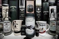 Whiskey shop, display window, Dingle, Ireland, Europe