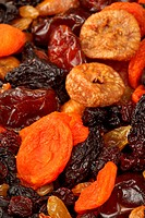 Various dried fruits apricots