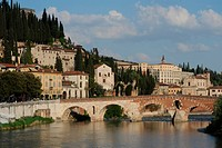 Italy, Europe, Veneto, Verona, river, Adige, fort, Unesco, world cultural heritage