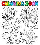 Coloring book cute bugs 2 _ picture illustration.