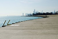 Shore of Lake Michigan, Lake View Chicago