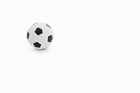 Soccer ball over white background
