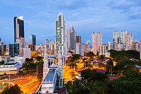 Skyline, Panama City, Panama, Central America, America
