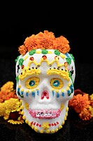 Decorated skull for Day of the Dead celebration