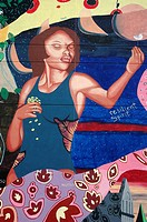 New York City, mural painting in Harlem, Uptown Manhattan