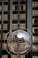 New York City, The Unisphere sculpture by Columbus Circle, Midtown Manhattan