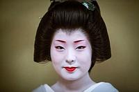 Fukuyu,geisha workimg in Miyaki tea house o-chaia Geisha´s distric of Miyagawacho Kyoto  Kansai, Japan