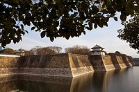 Moat of Osaka castle,Osaka, Japan,Asia