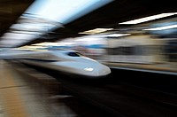Shinkansen High Speed train, Kyoto, Japan