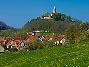 Seitenroda with Leuchtenburg, Saale Holzland District, Thuringia, Germany