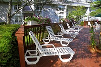 Massachusetts, Cape Cod, Hyannis, Holiday Inn, motel, hotel, property, lounge chairs, deck