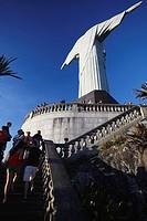 Tourists at Christ the Redeemer statue Cristo Redentor, Corvocado, Rio de Janeiro, Brazil
