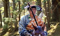 Yabusame - Mounted traditional Japanese archery - exhibition at Toshogu Shrine, Nikko
