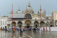 Facade of St Mark´s Basilica in Venice ,Italy,Europe