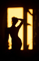 silhouette of girl on a background