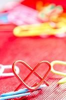heart shape paper clip
