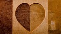 wood heart shape frame