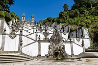Igreja do Bom Jesus with Fonte das Cinco Chagas, Escadorio dos Cinco Sentidos, Staircase of Five Senses, Santuario do Bom Jesus do Monte, Good Jesus o...