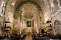 The interior of The Basilica of Our Lady of the Rosary, Santuario de Fatima, Fatima Shrine, Sanctuary of Our Lady of Fatima, Fatima, Ourem, Santarem, ...