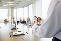 Businessman presenting to colleagues