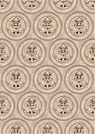Circles on a beige background of the cells