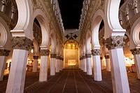 Synagogue of Santa María la Blanca, now a museum; mudejar style, Toledo, Spain.