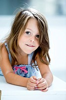 Germany, Girl smiling, portrait (thumbnail)