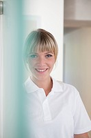 Germany, Dentist smiling, portrait