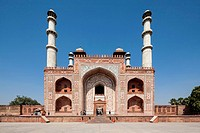 India, Uttar Pradesh, Agra, View of Tomb of Akbar the Great