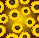 Sunflowers seamless